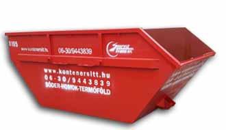 6 m3 konténer | Konténer rendelés, konténeres sittszállítás