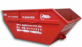 8 m3 konténer | Konténer rendelés, konténeres sittszállítás