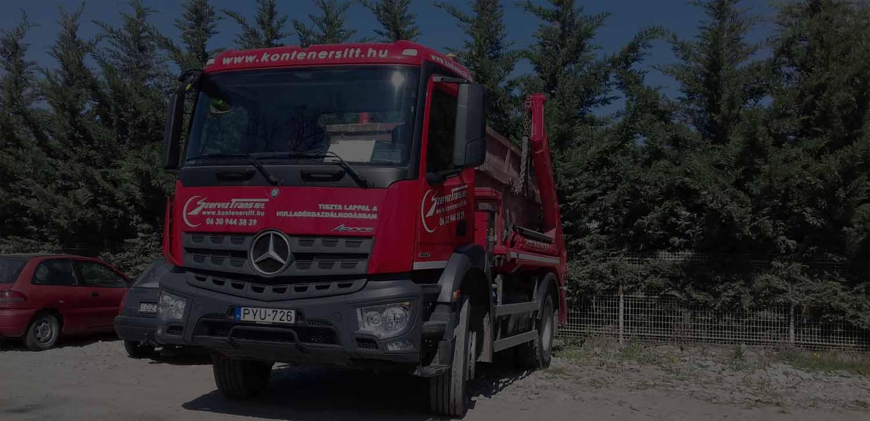 Konténer szállítás, konténeres sittszállítás